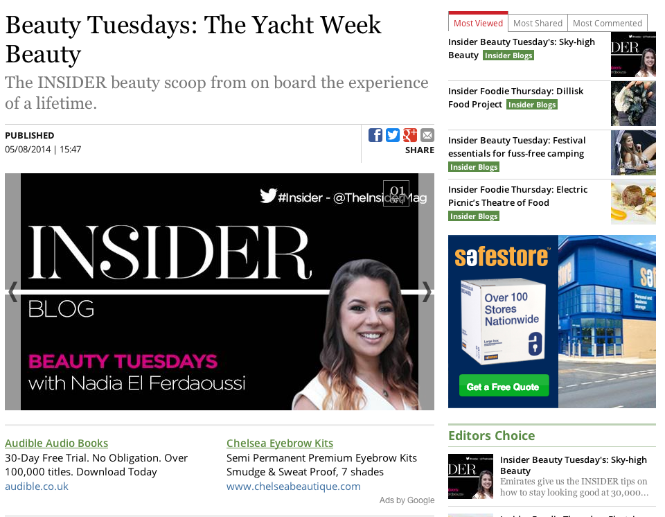 Insider Beauty Tuesday Blog