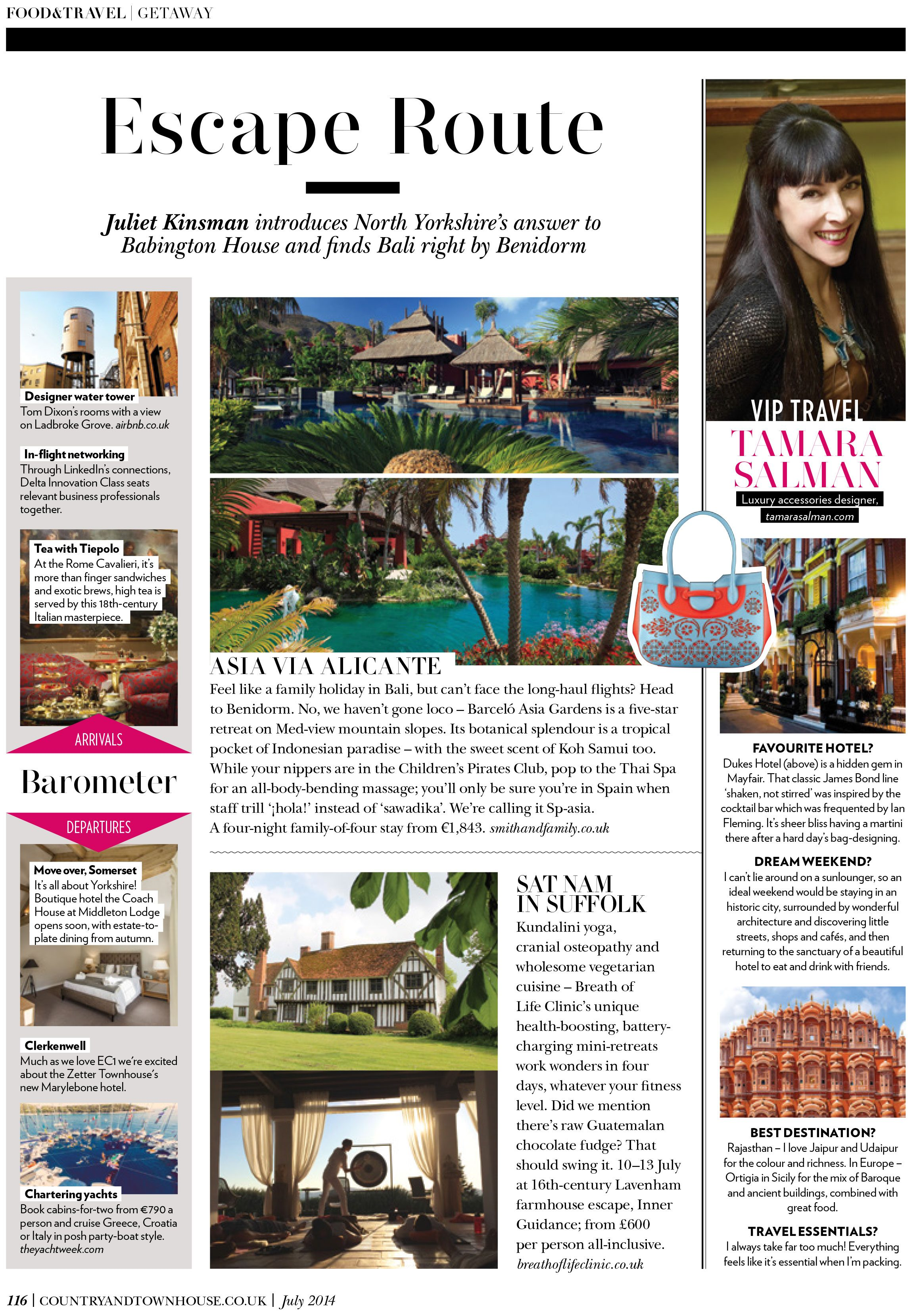 Press Coverage - Country and Townhouse