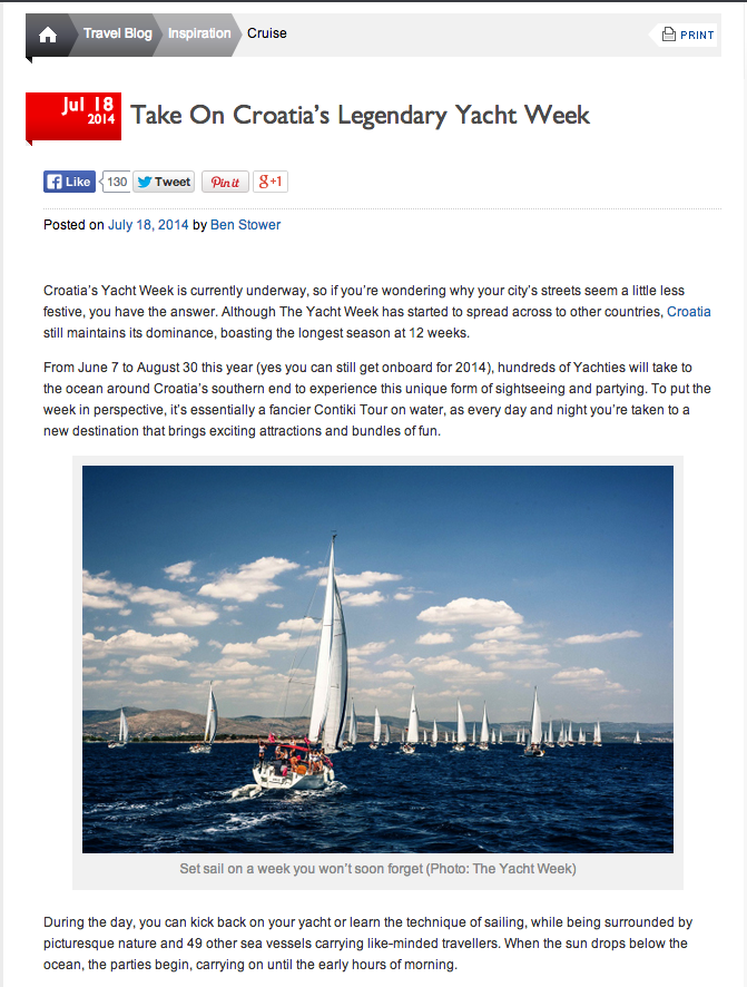 Press Coverage: The Yacht Week - Part 4