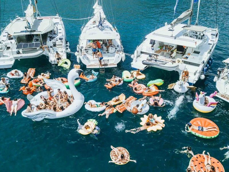 The Yacht Week party on Almara, Montenegro