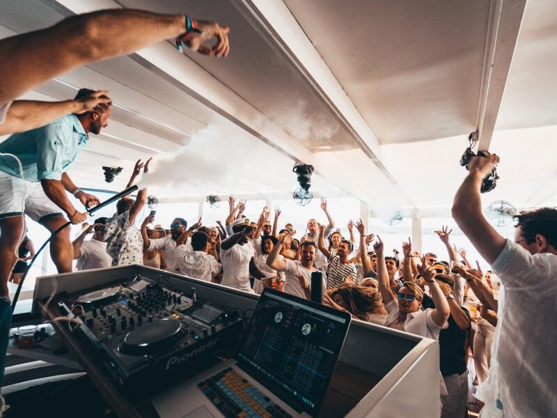 The Yacht Week party at Ermioni, Greece