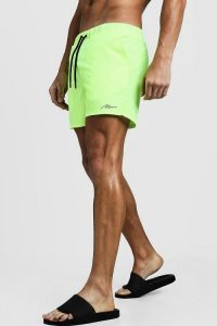 Swimwear trends 2020 BoohooMan Signature Swim Short In Short Length CREDIT BoohooMan