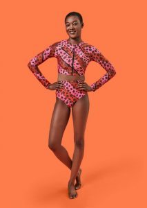 Swimwear trends 2020 Speedo x House of Holland Bright Cheetah Stripe Rash Top Bikini CREDIT Speedo