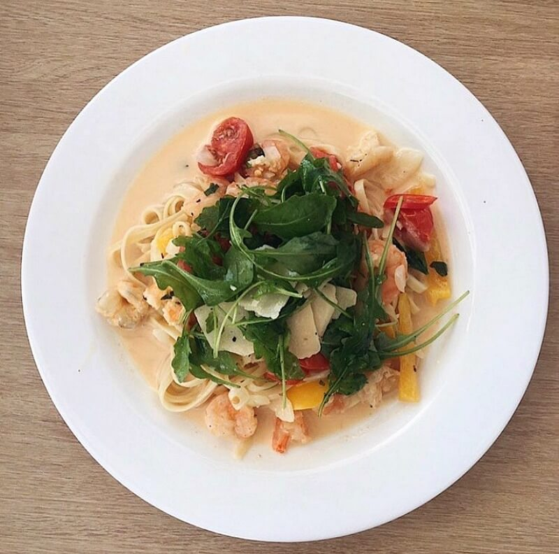 Sailing recipes_- The Yacht Week - Chilli and lemon prawn linguine CREDIT The Yacht Week