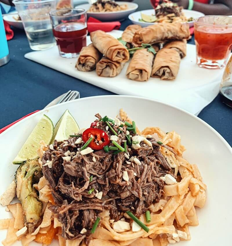 Sailing recipes_- The Yacht Week - Slow cooked sweet and sticky beef Pad thai CREDIT The Yacht Week