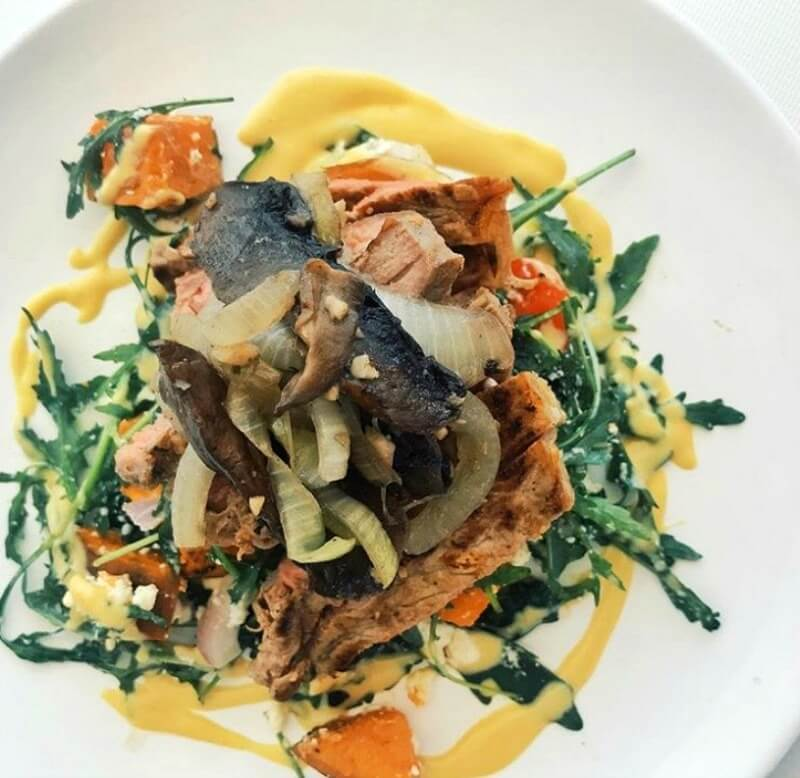 Sailing recipes_- The Yacht Week - Sweet Potato and Steak salad with honey mustard dressing CREDIT The Yacht Week